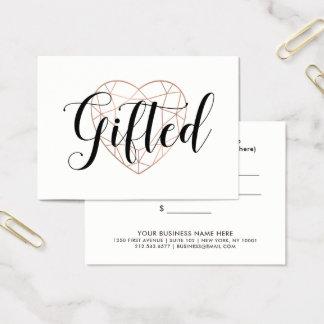 Faux Rose Gold Geometric Heart | Gift Certificate