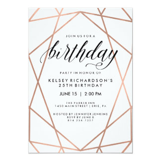 Gold Birthday Party Invitations & Announcements | Zazzle