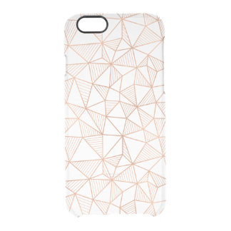 Faux Rose Gold Geometric Pattern Clear Clear iPhone 6/6S Case