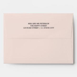 Faux rose gold glitter pink ombre wedding address envelope