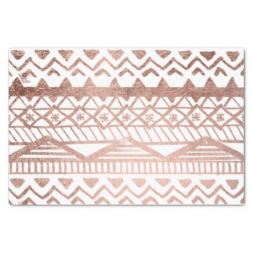 girly_trend Faux rose gold handdrawn geometric aztec tissue paper
