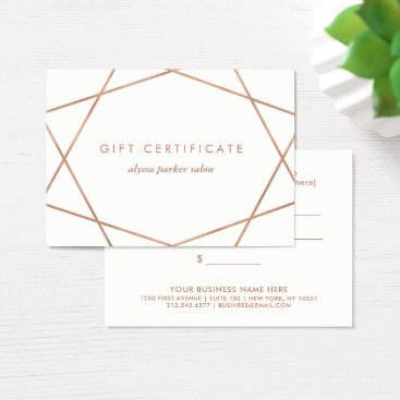 christine592 Faux Rose Gold Look Geometric | Gift Certificate