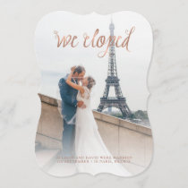 Faux Rose Gold Look | We Eloped Photo Announcement