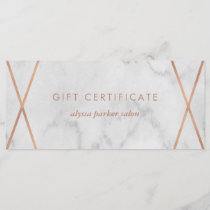 Faux Rose Gold Marble Geometric | Gift Certificate