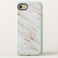 Faux Rose Gold Marble. OtterBox Symmetry iPhone SE/8/7 Case
