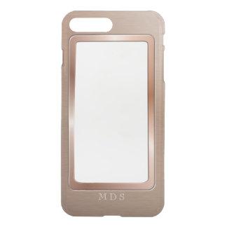 Faux Rose Gold Metal Bezel Clear Personalized iPhone 8 Plus/7 Plus Case