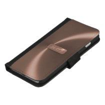 Faux Rose Gold Metallic iPhone 8 Plus Wallet Case