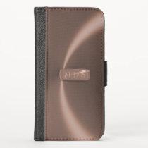 Faux Rose Gold Metallic iPhone Wallet Case
