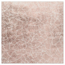 Faux rose gold stripes geometric abstract pattern fabric