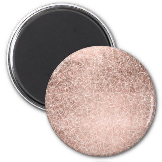 Faux rose gold stripes geometric handdrawn pattern 2 inch round magnet