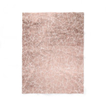 Faux rose gold stripes geometric handdrawn pattern fleece blanket