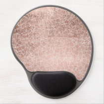 Faux rose gold stripes geometric handdrawn pattern gel mouse pad