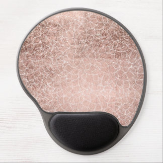 Faux rose gold stripes geometric handdrawn pattern gel mouse pad