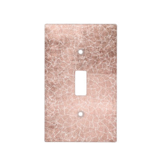 Faux rose gold stripes geometric handdrawn pattern light switch cover