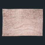 """Faux rose gold stripes geometric handdrawn pattern towel<br><div class=""""desc"""">A geometric,  modern striped hand drawn pattern with faux rose gold color,  the black color background is fully customizable</div>"""