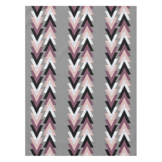 Faux Rose Gold White Marble Purple Black Geometric Tablecloth