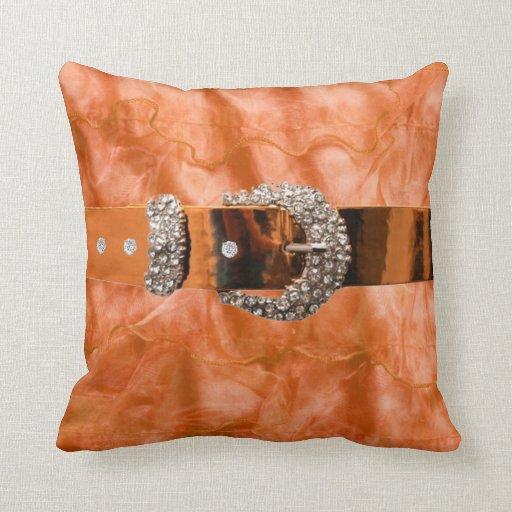 Faux Ruffled and Rhinestone MoJo Pillow