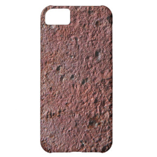 Faux rust texture (brown flaky rusted iron) pitted iPhone 5C case