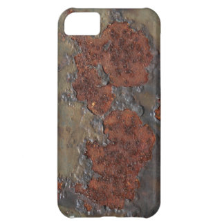 Faux rust texture (brown flaky rusted iron) pitted case for iPhone 5C