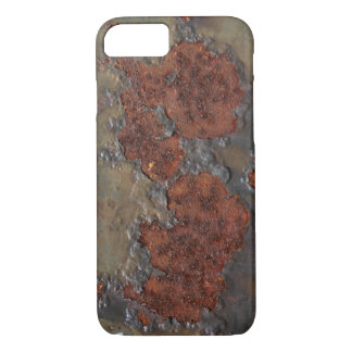 Faux rust texture (brown flaky rusted iron) pitted iPhone 7 case