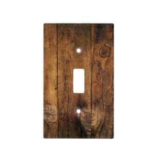Faux Rustic Barn Wood Switch Cover