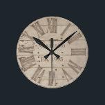 "Faux rustic wood custom wall clock<br><div class=""desc"">Faux rustic wood design</div>"