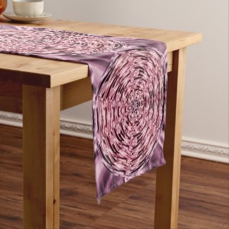 Faux Satin Pink Purple Wine Short Table Runner