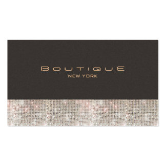 Faux Sequins and Suede Fashion Boutique Double-Sided Standard Business Cards (Pack Of 100)