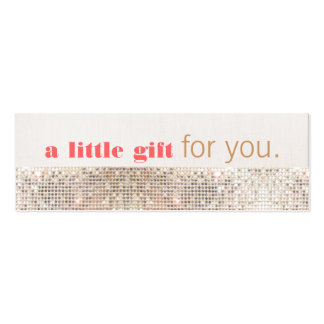 Faux Sequins Hair Salon and Spa Gift Certificate Double-Sided Mini Business Cards (Pack Of 20)