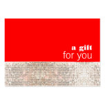 Faux Sequins Hair Salon Holiday Gift Certificate Large Business Card