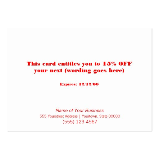 Faux Sequins Salon and Spa Holiday Gift Card Business Card Template (back side)