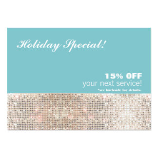 Faux Sequins Salon and Spa Holiday Gift Card Large Business Cards (Pack Of 100)