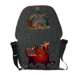 Faux Shark Skin Double Eagle Arms & Winged Fire Dr Commuter Bags