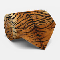 Faux Siberian Tiger Skin Men's Tie