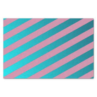Faux Silk & Aqua Blue & Pink Design Tissue Paper
