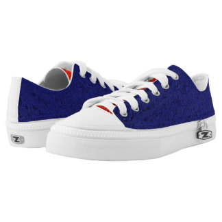 Faux Silk Navy blue and Tangerine Zip Z shoes