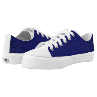 Faux Silk Navy Blue  Zip Z shoes
