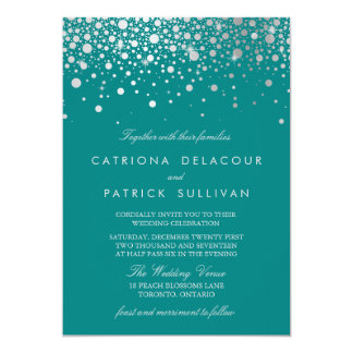 teal wedding invitations & announcements | zazzle, Wedding invitations