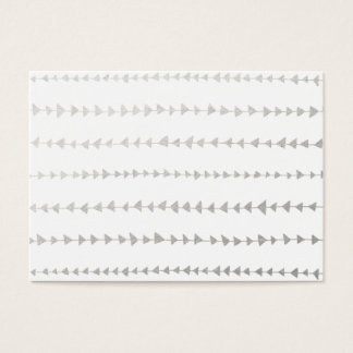 Faux Silver Foil White Arrows Pattern Business Card