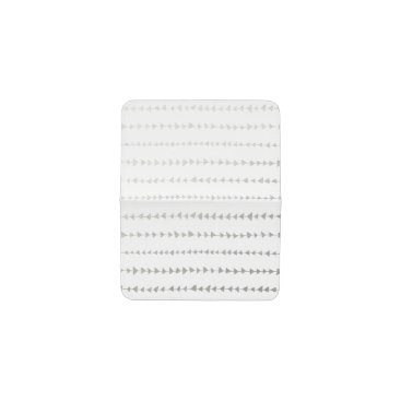Aztec Themed Faux Silver Foil White Arrows Pattern Business Card Holder