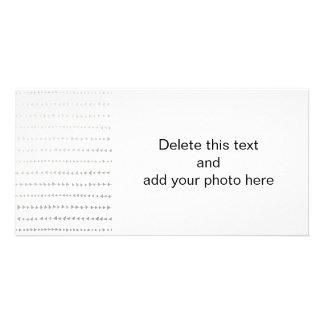Faux Silver Foil White Arrows Pattern Card