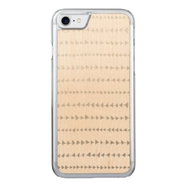 Aztec Themed Faux Silver Foil White Arrows Pattern Carved iPhone 7 Case