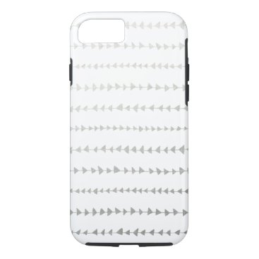 Aztec Themed Faux Silver Foil White Arrows Pattern iPhone 7 Case