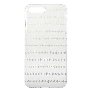 Aztec Themed Faux Silver Foil White Arrows Pattern iPhone 7 Plus Case