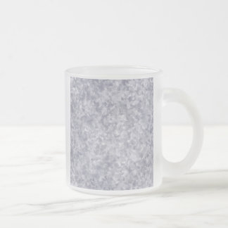 Faux Silver Galvanized Steel Metal Frosted Glass Coffee Mug