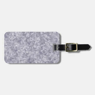 Faux Silver Galvanized Steel Metal Luggage Tag