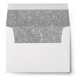 Faux Silver Glitter Envelope