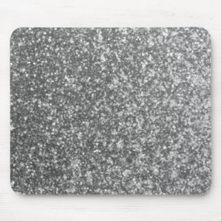 Faux Silver Glitter Glamour Girly Abstract Glam Mouse Pad