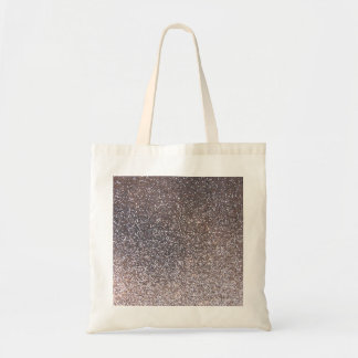Faux Silver glitter graphic Canvas Bag