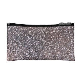 Faux Silver glitter graphic Cosmetic Bag